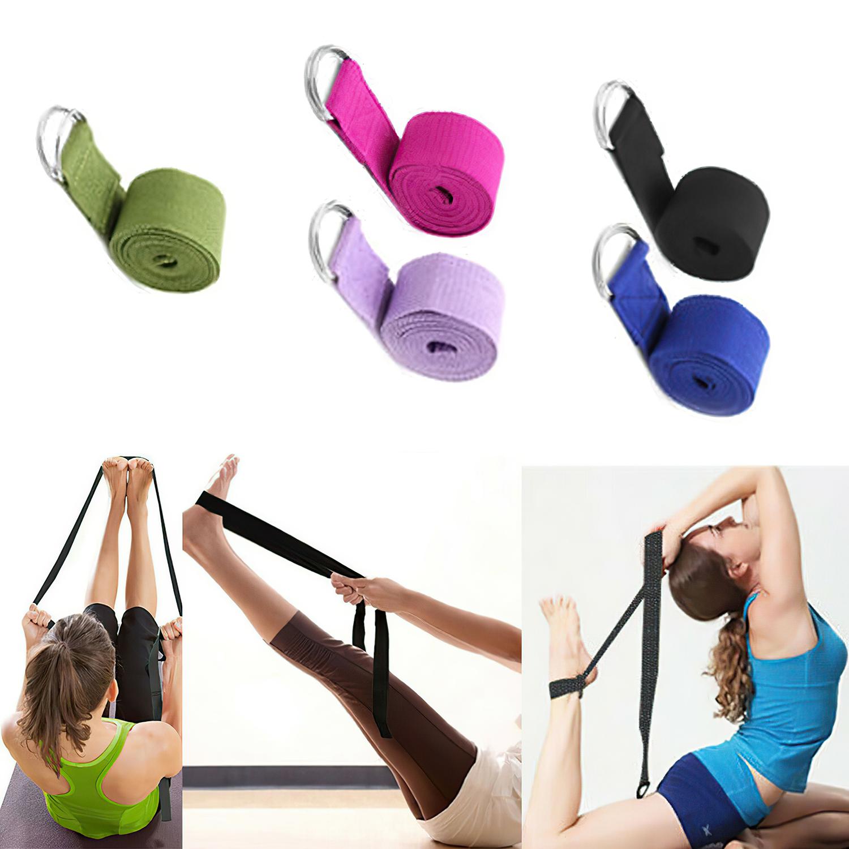 Details about  /180 CM Sport Yoga Stretch Strap Adjustable D-Ring Belt Gym Fitness Waist Leg