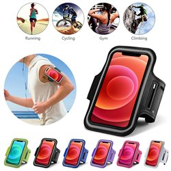 iPhone 12 - PU Leather Sport Arm Band Case