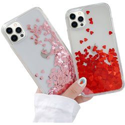 iPhone 12 Pro - Moving Glitter 3D Bling Phone Case