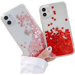 iPhone 12 - Moving Glitter 3D Bling Phone Case