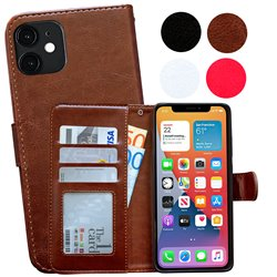 iPhone 12 - PU Leather Wallet Case
