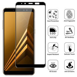 Samsung Galaxy A8 2018 - Tempered Glass Screen Protector Protection