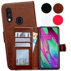 Samsung Galaxy A40 - PU Leather Wallet Case