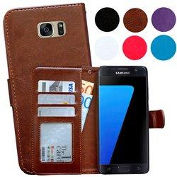 Samsung Galaxy S7 Edge - PU Leather Wallet Case