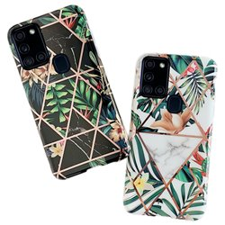 Samsung Galaxy A21s - Geometric Flower Case