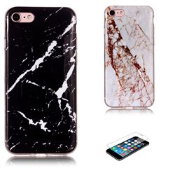 iPhone 7 - Case Protection Marble + Screen Protection