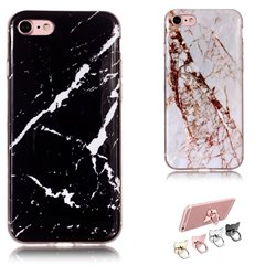 iPhone 7 - Case Protection Marble + Ring