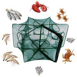 Folding Fishing Net Fish Shrimp Crab Bait Cast Net Mesh Trap 12 Holes