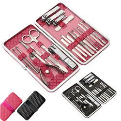 21 pcs Nail Care Kit Cutter Set Clippers Manicure Pedicure