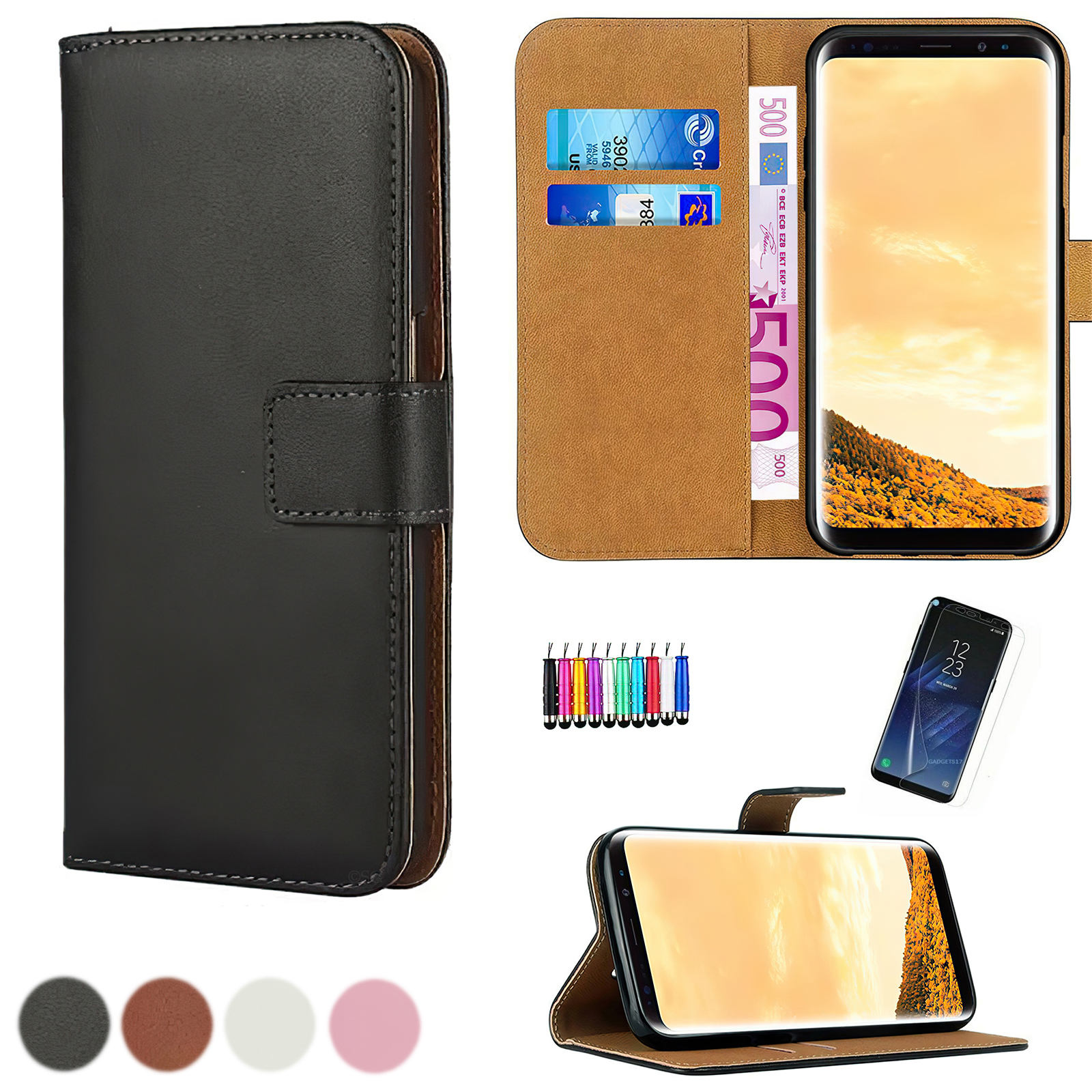 Samsung Galaxy S9 - Wallet Case + Screen protection and Touch
